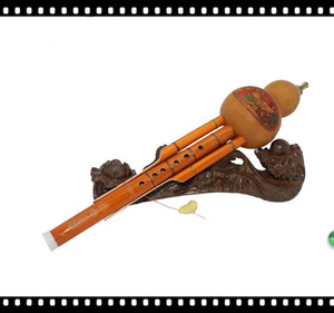 2016 Nouvelle Vente Livraison Gratuite C Tune Unisexe Orange 6 Trous Hulusi Packtong Tube La Désassemblabilité Bouteille Gourde Soie