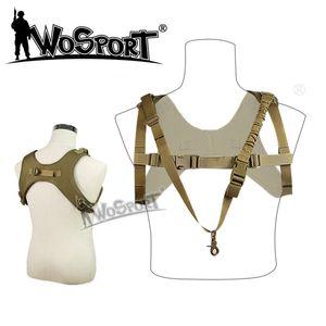 WoSport Fionda one point Vest Outdoor Paintball Airsoft Multifunzione 1000D Nylon MOLLE Gilet tattico a sospensione CS