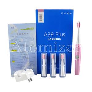 Lansung A39Plus Charge Cepillo de dientes eléctrico Sonic Sonic Rotary Cepillo de dientes eléctrico Cepillo de dientes recargable + 4pcs cepillo de dientes 0610002
