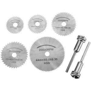 7pcs 22-44mm HSS dischi per seghe circolari per taglio lama 3.175mm per Dremel
