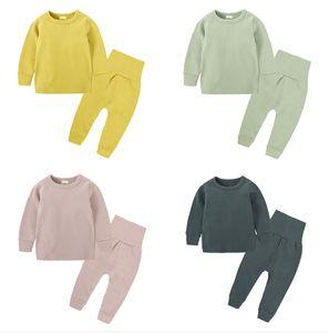 Yeni Toddler Giysileri Bebek Erkek Kız Uzun Kollu Pijama Sonbahar Kış Pijama Setleri Gecelikler T Gömlek + Pantolon İki Parçalı Çocuklar Pijama