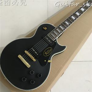 Sıcak satış Siyah P90 Pickup ile Elektrik gitar, Abanoz klavye, Tüm renk mevcuttur, Bazı ülkeler Ücretsiz Kargo
