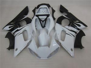 3 cadeau New Hot ABS kits de carénage de moto 100% Fit pour 1998 2002 YAMAHA YZF R6 YZF-R6 1998 2002 YZFR6 YZFR6 98 02 Noir Blanc
