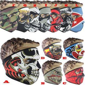 30pcs cranio maschera facciale 12 colori costume di halloween festa maschera facciale moto sciarpa bici sci snowboard sport all'aria aperta asciugamano viso