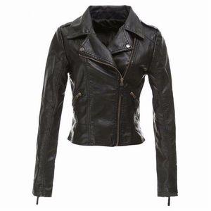 Sonbahar kış Jaqueta De Couro Feminina kadın Pu Deri Ceketler Artı Boyutu Palto Bayanlar Giyim Ceket Kadınlar Için