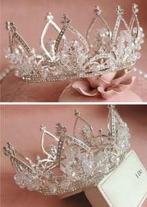 Melhor venda vintage prata casamento tiara cabelo nupcial coroa headband acessórios mulheres jóias hairpiece