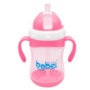 Bobei الفيل 300ML الطفل رضاعة الاطفال كوب شرب رضاعة أكواب سيبي مع مقبض الطفل رضاعة PP البلاستيك