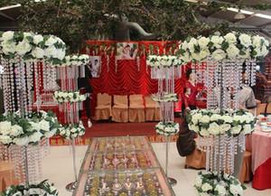 120 cm de altura noria perlas de cristal decoración de la boda centros de mesa apoyos de la boda 6 unids / lote Express envío gratis