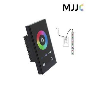 미국 표준 벽 마운트 터치 패널 RGB 풀 컬러 LED 컨트롤러 12-24V 5050 RGB LED 스트립 빛