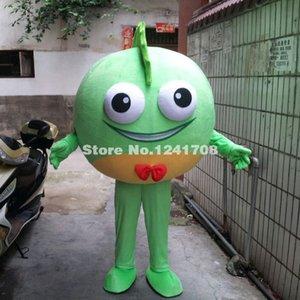사용자 지정 브랜드 새로운 녹색 / 핑크 해양 생물 녹색 물고기 마스코트 제복 갈라 성능 만화 캐릭터 의상