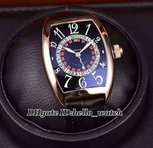 Специальное предложение New Vegas 8880 издание Speciale Munegu CAL.SK Автоматическая Мужские часы черный циферблат розового золота кожаный ремешок Часы Hello_Watch