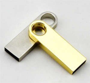 64 GB 128 GB 256 GB USB2.0 Unidad flash Memory Stick Pen Metal plateado Memory Stick U disco giratorio USB Sticks iOS Android paquete minorista al por menor 01