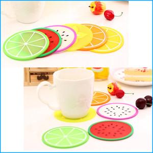 Forma de frutas Antiderrapante calor Isolamento Coaster Criativo Casa Cozinha Tigela Tapetes Placemat Esteira De Tabela Copo Mat Almofada de Refeição