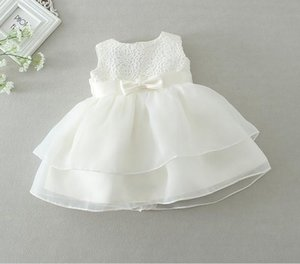 جديد 2016 التجزئة الوليد طفلة اللباس التعميد التعميد ثوب الاطفال الفتيات حزب الرضع الأميرة فساتين زفاف الصيف