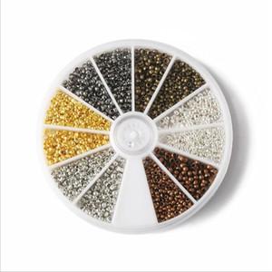 2mm 2.5mm Métal Mixte Couleurs En Métal Perles Lâches Kit Perles Spacer Lâches Pour DIY Fabrication de Bijoux