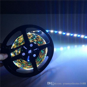 5M 300led RGBW led strip impermeabile / non impermeabile DC12V strip light flessibile RGB bianco / colore bianco caldo sorprendente luce sting led