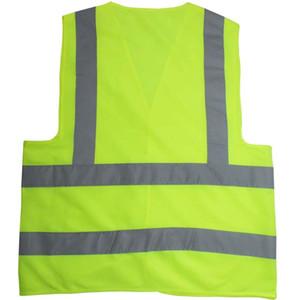 Светоотражающая безопасность Одежда рабочая Гладко санитария шоссе дорожного движения светоотражающая куртка высоких световозвращающих жилетов