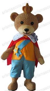 Komik Yetişkin Boyutu Prens Teddy Bear Maskot Kostüm Özel Takım Maskotları Spor Maskot Kostüm Desuisement Mascotte Karakter Tasarım Şirketi