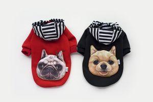 Cappotto per cani Pitbull Boxer Head Pet Costume Abbigliamento Cat Dog Puppy Felpa con cappuccio Abbigliamento invernale per cani Indossare maglione Pet regalo di natale 2 colori 4 formati