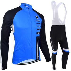 BXIO Marque Maillot De Bicyclette Unisexe Ensembles À Manches Longues Bleu De La Mode Sport Maillots Veste De Vélo Complet Zipper Vêtement BX-029