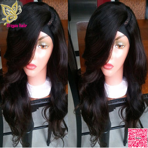 جسم موجة u جزء لمة مع الانفجارات الجانبية البرازيلي الإنسان الشعر uart لمة الجزء الأيسر للنساء السود u الجزء الإنسان باروكات الشعر
