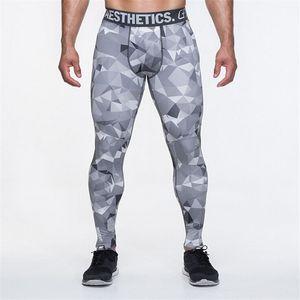 Camo Erkek Sıkıştırma Pantolon Yüksek Elastik Erkek Joggers Spor Giyim Slim Fit Spor Pantolon Giysileri