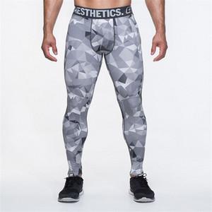 Camo Mens Compression Hosen Hohe Elastische Mens Jogger Fitness Kleidung Slim Fit Sport Hosen Kleidung