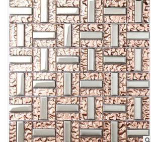 Doğrudan modern Çin tarzı üreticileri mozaik banyo TV arka plan duvar mozaik kristal cam fayans