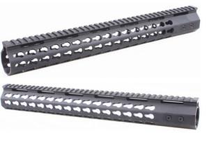 15 Zoll dünne KeyMod Free Float Begrenzungsscheibe Montage mit Stahlzylindermutter abnehmbare Schiene fit Scope Laser-Taschenlampe