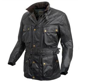 2016 de Alta Qualidade hot new jaqueta dos homens jaqueta Oblique bolso Stand gola dos homens casaco preto dos homens Outerwear com cinto