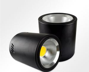 Поверхностного монтажа Светодиодный светильник лампы 30W COB черный потолочная панель лампаду 220 110V для отеля Банк кухни Освещение украшения Теплый белый CE Рош
