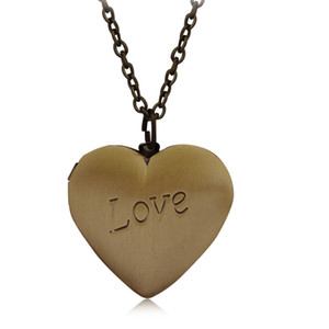 Wholesale New Unique Locket Fashion Jewelry Romantic Gift Heart Pendant Love Necklace For Women Free shipping