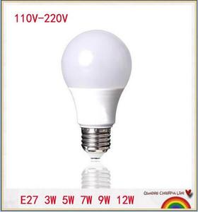 LED Lamba E27 3 W 5 W 7 W 9 W 12 W 110 V-240 V Gerçek Watt LED Ampul Işık SMD5730 Hızlı Isı Dağılımı Yüksek Parlak Lampada LED Lambalar