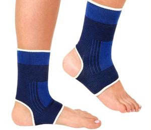 H-01- 2016 Soporte de tobillo de punto elástico 2 piezas Protege la banda de refuerzo Deportes Gimnasio Protege Terapia zapatos de fútbol de baloncesto protector de tobillo