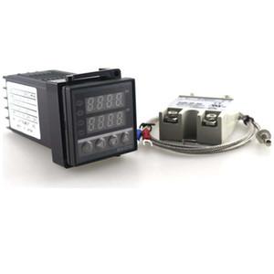 PID Dual Digital Termostato Regolatore di Temperatura 220 V 10A AC REX-C 100 K Termocoppia SSR Potenza Programmabile Spedizione Gratuita