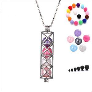 net accessoires de perles cylindriques Disffuser Dolphins collier médaillon huile essentielle Diffuseur collier creux sur médaillon pendentif collier