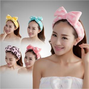 высокое качество ванной наборы женщин мыть лицо / спорта на открытом воздухе удобные фланелевой ткани оголовье полотенце для волос