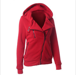 Wholesale- Women Basic Jackets 2017 New Fashion Autumn Winter Women zipper V Neck Long Sleeve Warm Female Slim Hoodies jacket Outerwear