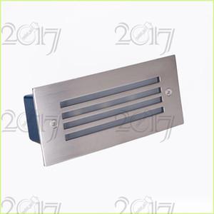 Açık / Kapalı led merdiven ışık 3 W led duvar lambası gece lambası led Adım işık, gömme zemin ışık, 110 v 220 v su geçirmez Gömme Zemin Işık