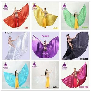 2018 Hot Belly Dance Wings Isis Belly Dancing Oriental Design New Wings 11 colores sin palos Dancewear Dance Wings