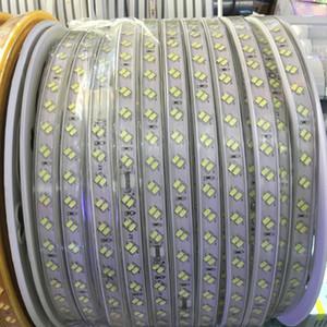 100m 110v 220v double rangée smd 5730 3014 2835 5050 bandes menées fita a mené la bande légère imperméable ruban flexible ruban blanc / blanc chaud