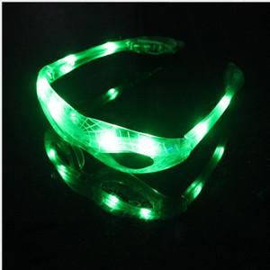 LED Spiderman Occhiali lampeggiante Light Party Occhiali Glow natale maschera di Halloween illuminato LED a barre occhiali giocattolo del partito