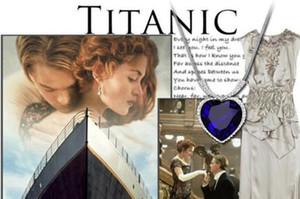 Love Of Heart Collana Titanic Diamond Collana Chain Sapphire Crystal Collana Jack and Rose Memory Blue Diamond