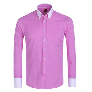 Wholesale-Special Offer / Summer 2016 Mens Long Sleeve Button Down Pinpoint-Stripe Dress Shirt Classic-fit Comfort Soft Formal Shirts