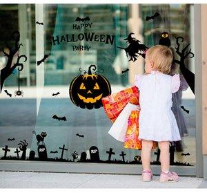 Cartel de pared de suministros de Halloween festivos calientes El vidrio está atascado Imagen pinup de decoración de calabaza