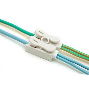 20PCS Morsetto a molla autobloccante Connettori Morsettiera Morsettiera ZQ-2P bianca Connettori a morsetto Quick Filo Lock
