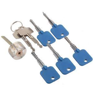 قفال جولة الصليب مرئية الممارسة قفل مع 2 مفاتيح + قفل اختيار أداة تعيين لتدريب المهارات الأقفال