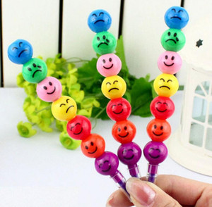 1000 adet Kırtasiye Renkli WaterColor Fırça Gülen Karikatür Kalemler Kalem İşaretleyiciler çocuk Oyuncakları Hediyeler Suluboya kalem 7 renkler ücretsiz kargo