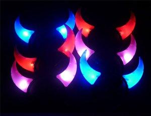 حار بيع LED ضوء فلاش Haloween الشيطان الأبواق العصابة تأثيري لعطلة الاحتفال الديكور أضواء عيد الميلاد
