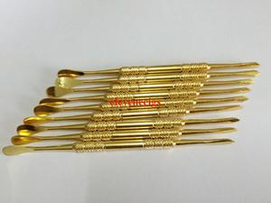 Colore ORO strumento cera dabber Cera atomizzatore tamponare acciaio inox strumento titanio strumento asciutto penna erbe vaporizzatore chiodo dabber